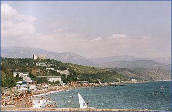 Вид на пляжи со стороны Профессорского уголка