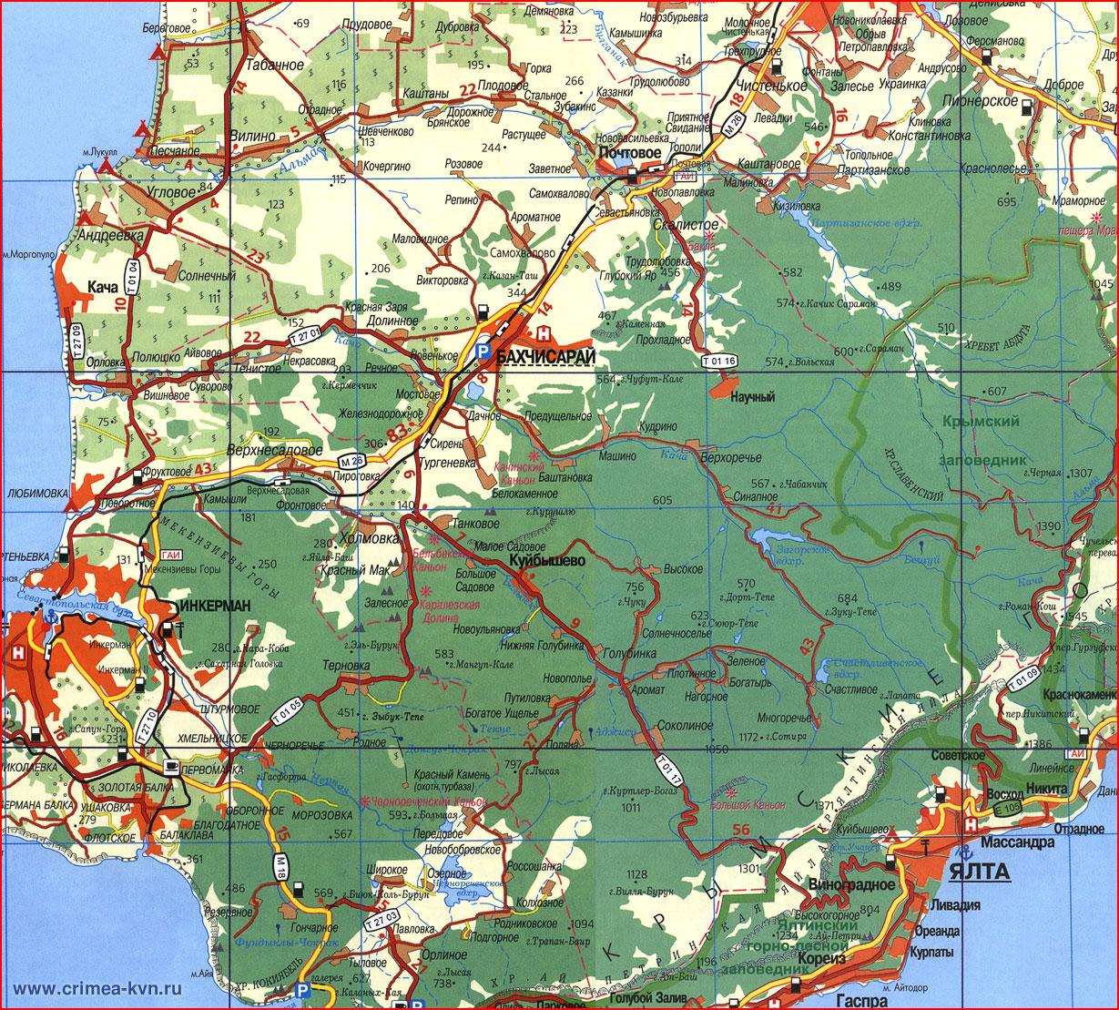 Карта Чорнухинського Району