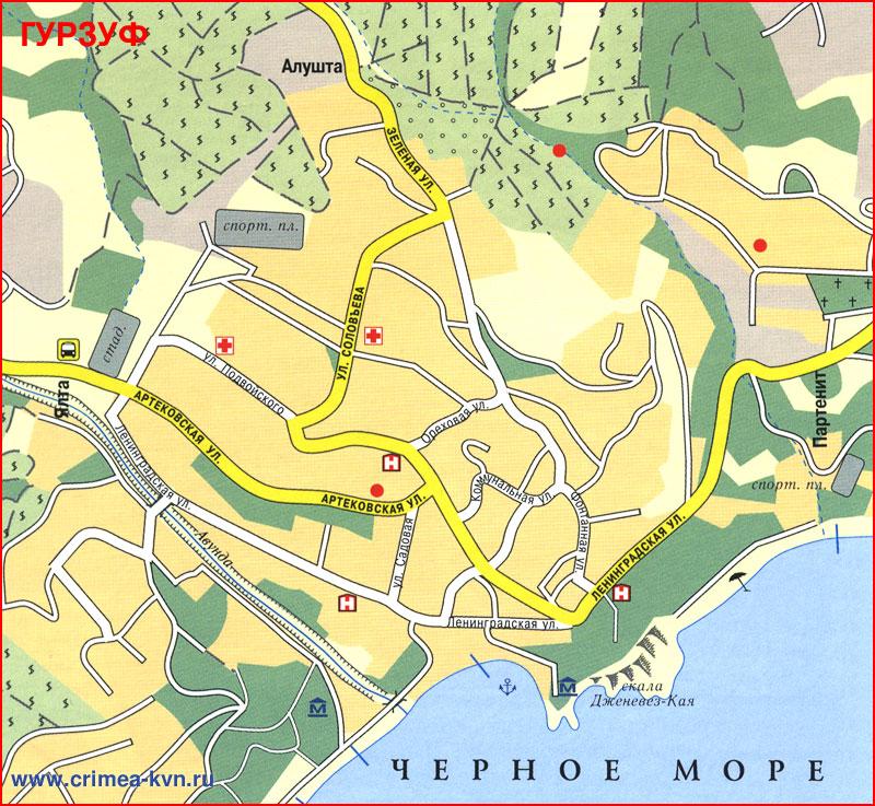 карта фото гурзуф