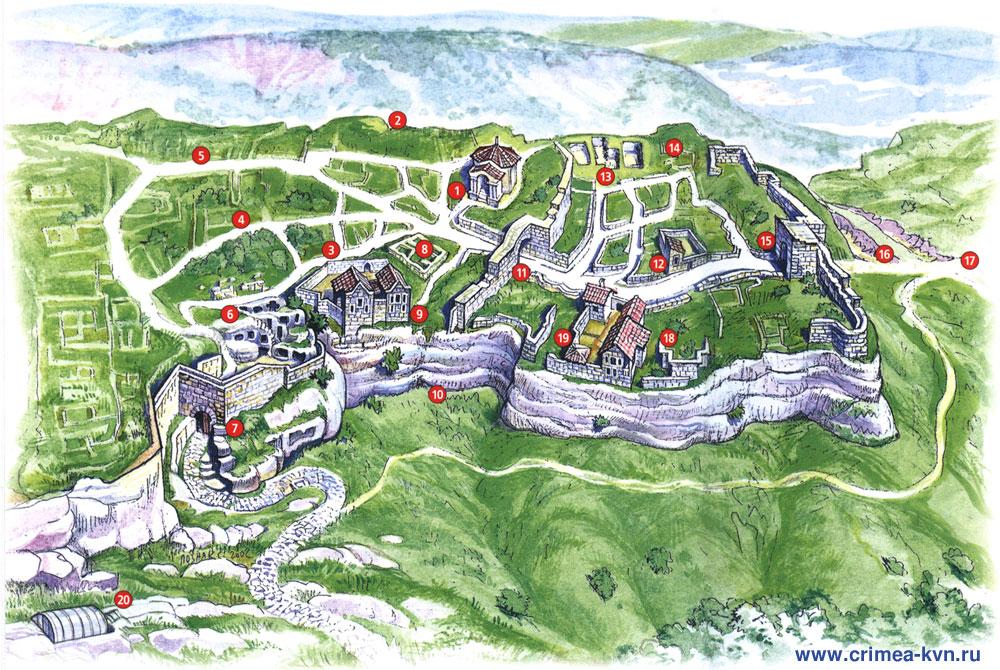 Карта схема города.